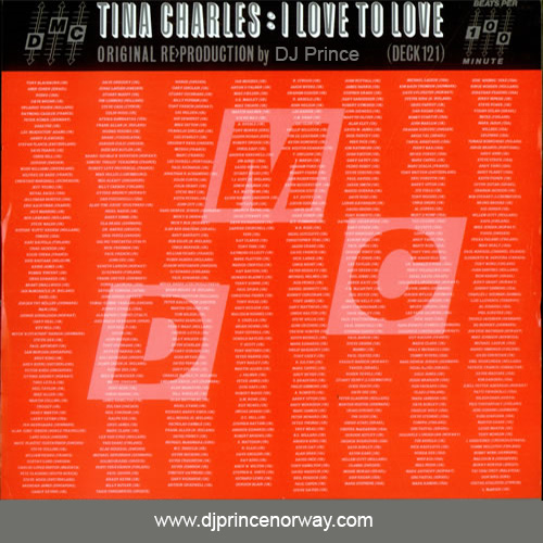 Tina Charles - I Love To Love (DJ Prince Extended Remix)